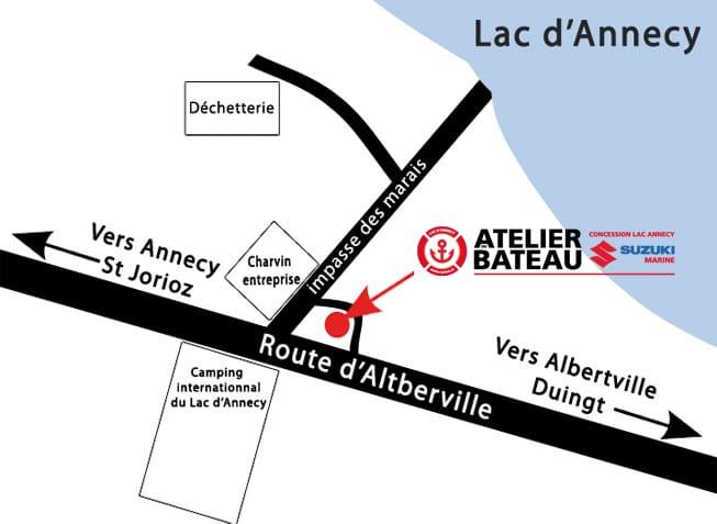 Plan situation Atelier du Bateau